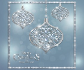 Luxury christmas jewelry decor background vector 01