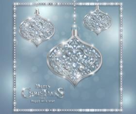 Luxury christmas jewelry decor background vector 01