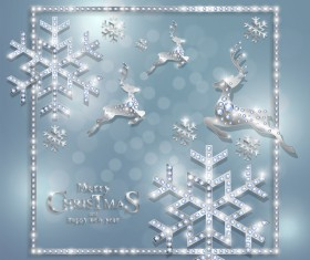 Luxury christmas jewelry decor background vector 03