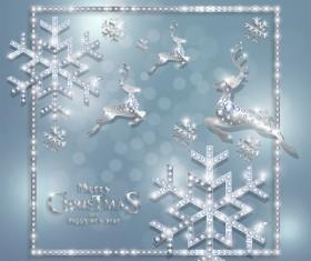 Luxury christmas jewelry decor background vector 03