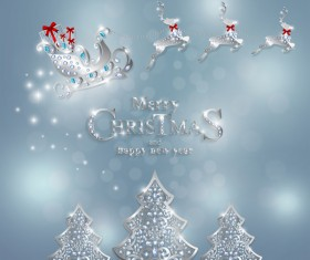 Luxury christmas jewelry decor background vector 04