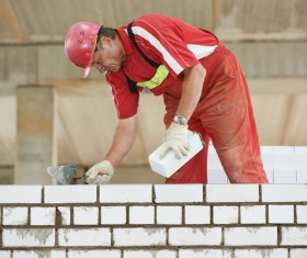 Masonry workers Stock Photo 09