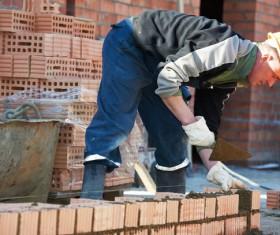 Masonry workers Stock Photo 10