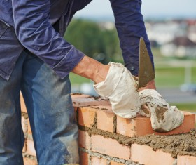Masonry workers Stock Photo 11