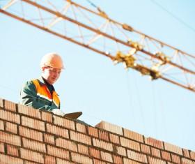 Masonry workers Stock Photo 12