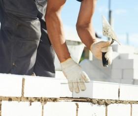 Masonry workers Stock Photo 13