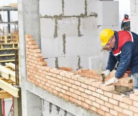 Masonry workers Stock Photo 14