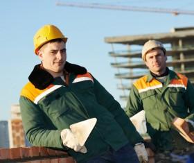 Masonry workers Stock Photo 15