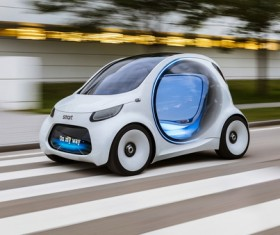 Mercedes smart vision EQ fortwo Stock Photo