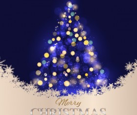 Merry chrismtas with happy new year abstract tree background vector
