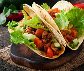 Mexican beef burrito Stock Photo