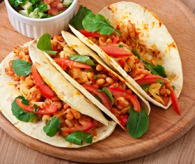 Mexican delicious softtaco Stock Photo 01