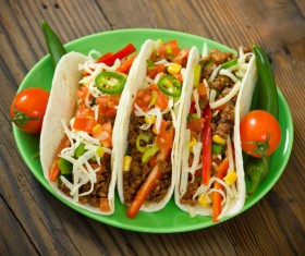 Mexican delicious softtaco Stock Photo 05