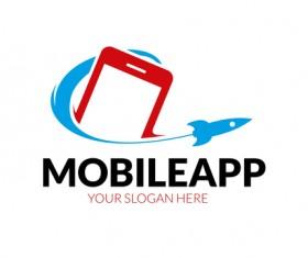 Mobile app logo vector