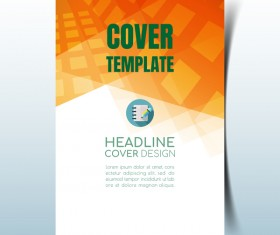 Modern business flyer with brochure cover template vector 01