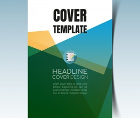 Modern business flyer with brochure cover template vector 04