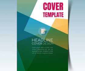 Modern business flyer with brochure cover template vector 06