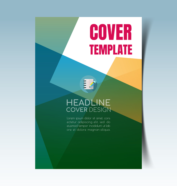 Modern Business Flyer With Brochure Cover Template Vector 06  Cover Template