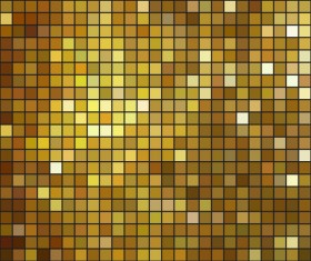 Mosaic golden background vector