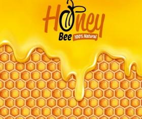 Nature honey vector background 02