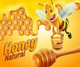 Nature honey vector background 03