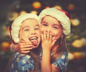 Naughty twin sisters Stock Photo