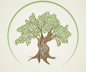 Olive Tree vector background
