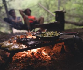 Outdoor picnic barbecue Stock Photo