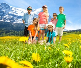 Outing with kids Stock Photo