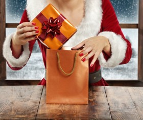 Pack Christmas gifts Stock Photo