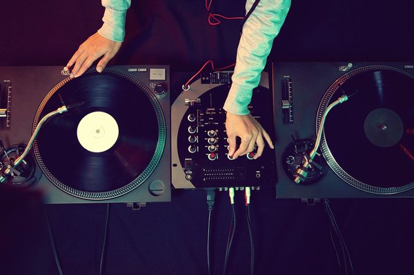 Passion female DJ Stock Photo 04