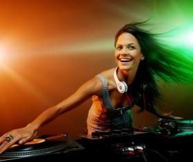 Passion female DJ Stock Photo 05