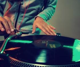 Passion female DJ Stock Photo 06