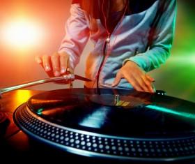 Passion female DJ Stock Photo 07
