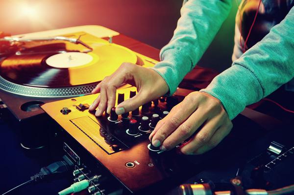 Passion female DJ Stock Photo 08