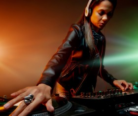 Passion female DJ Stock Photo 09