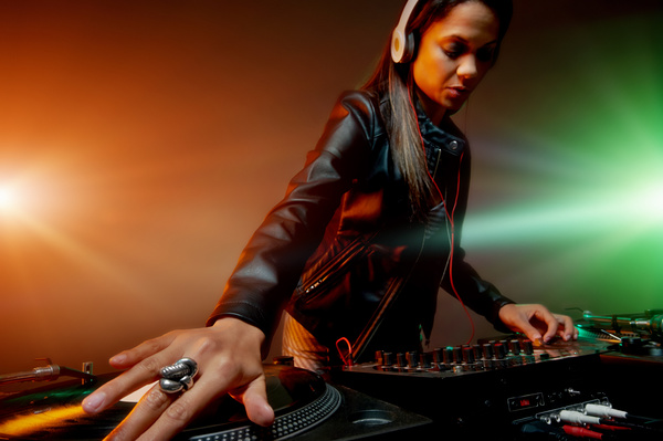 Passion female DJ Stock Photo 09