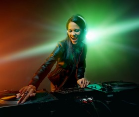 Passion female DJ Stock Photo 10