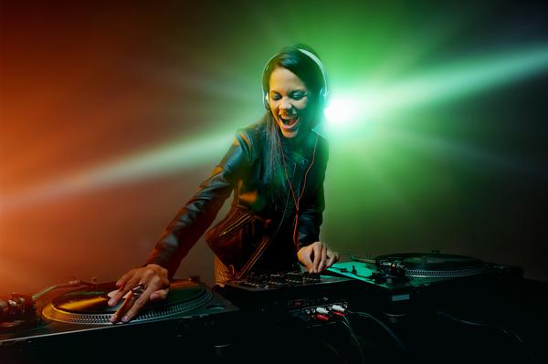 Passion female DJ Stock Photo 10