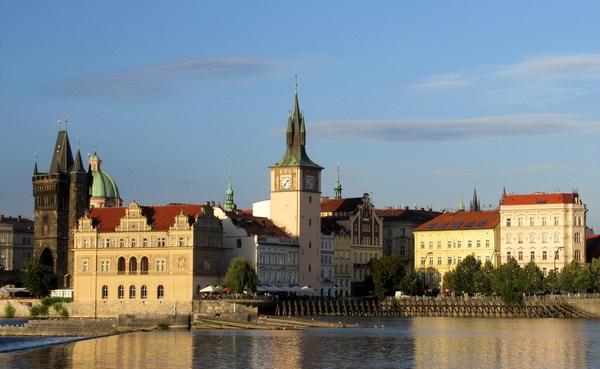 Prague Renaissance architecture Stock Photo