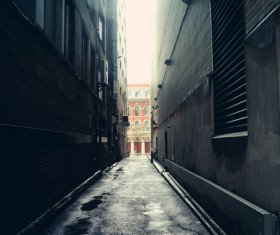 Quiet city alley Stock Photo