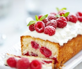 Raspberry layer cake Stock Photo