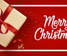 Red christmas background with gift boxs vector material 02