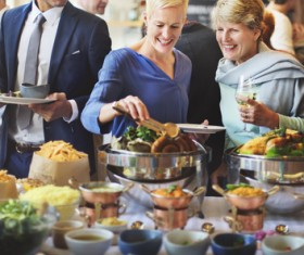 Rich party food Stock Photo 04