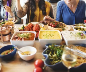 Rich party food Stock Photo 06