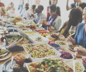 Rich party food Stock Photo 07