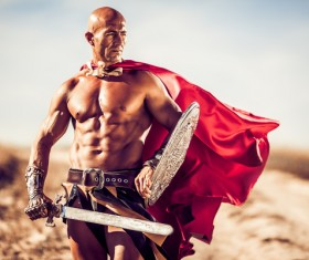 Roman Gladiator Stock Photo 01
