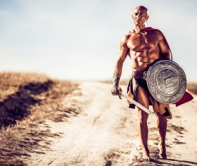 Roman Gladiator Stock Photo 02