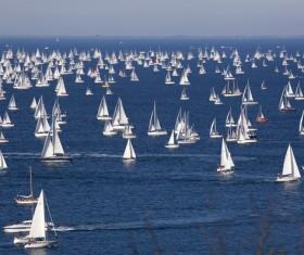 Sailing start Stock Photo