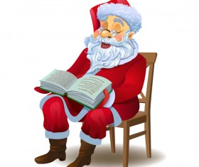 Santa claus and book vector